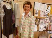 Kay and her beautifully made silk shirt