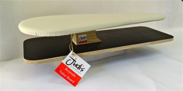 Bespoke large Tailor board has a sealed MDF base to prevent warping in a steamy environment. top board is pine with higher density 6mm foam and heavy duty calico cover.